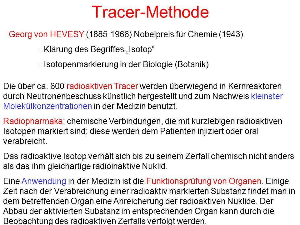 """Tracer-Methode Georg von HEVESY (1885-1966) Nobelpreis für Chemie (1943) - Klärung des Begriffes """"Isotop"""