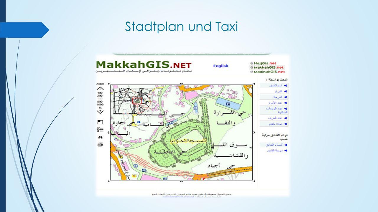 Stadtplan und Taxi