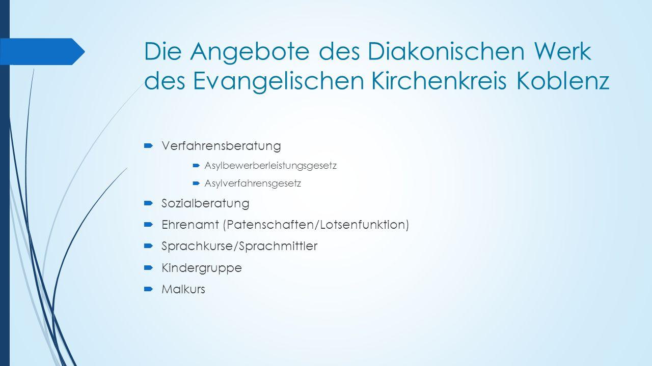 Die Angebote des Diakonischen Werk des Evangelischen Kirchenkreis Koblenz