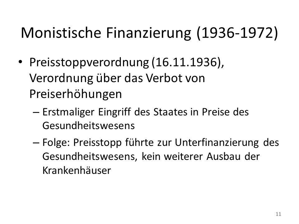 Monistische Finanzierung (1936-1972)