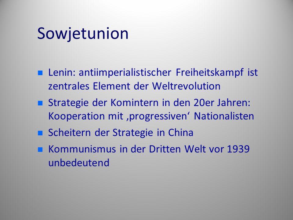 Sowjetunion Lenin: antiimperialistischer Freiheitskampf ist zentrales Element der Weltrevolution.