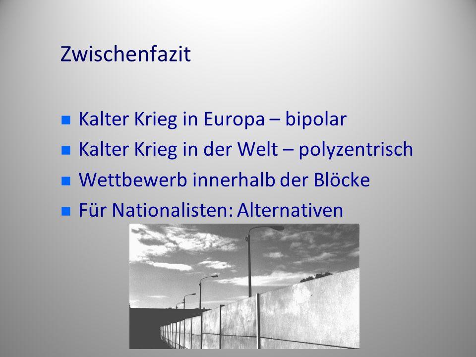 Zwischenfazit Kalter Krieg in Europa – bipolar