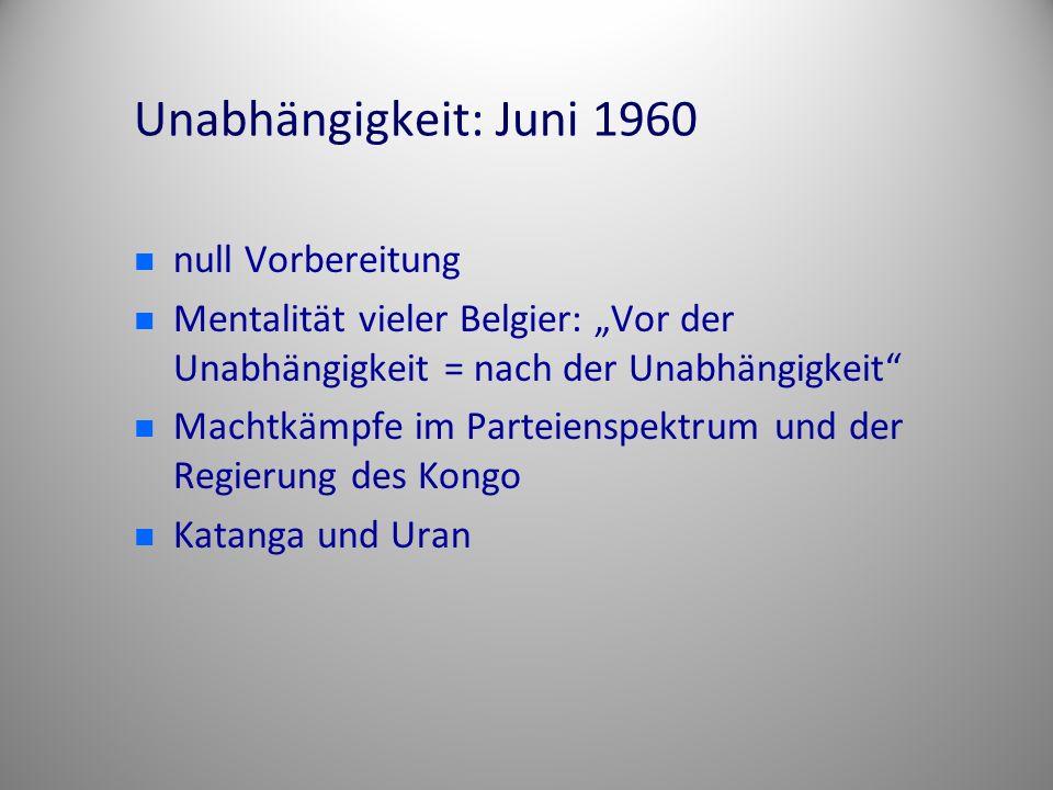 Unabhängigkeit: Juni 1960 null Vorbereitung
