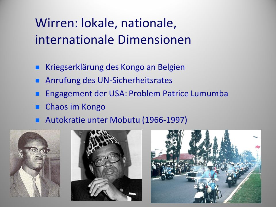Wirren: lokale, nationale, internationale Dimensionen