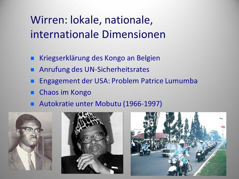 Wirren: lokale, nationale, internationale Dimensionen