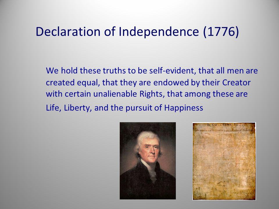 Declaration of Independence (1776)