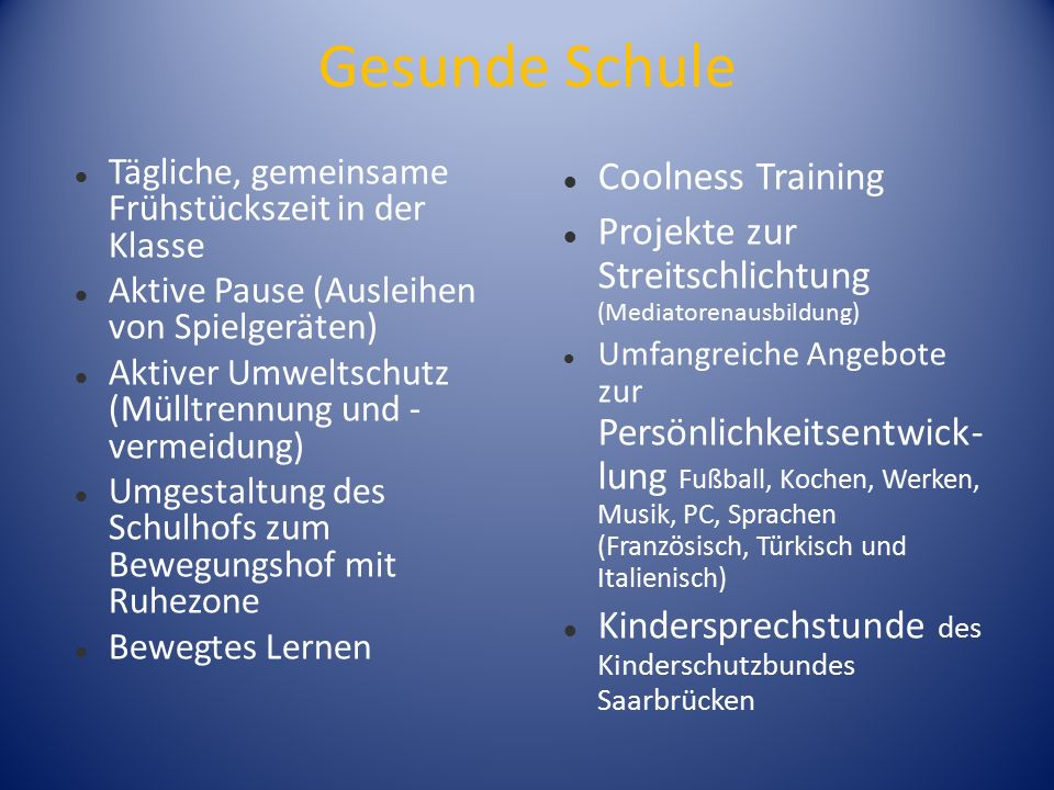 Gesunde Schule Coolness Training
