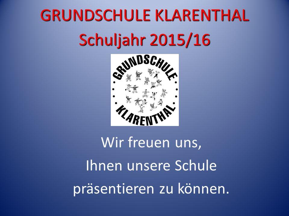 GRUNDSCHULE KLARENTHAL Schuljahr 2015/16