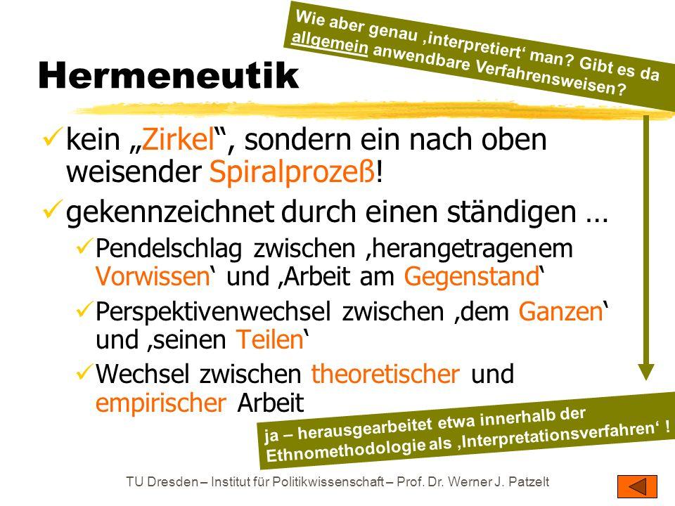 Hermeneutik Wie aber genau 'interpretiert' man Gibt es da allgemein anwendbare Verfahrensweisen
