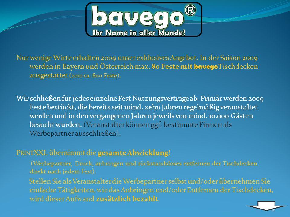 bavego® Ihr Name in aller Munde!