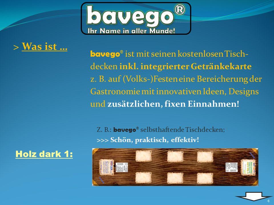 bavego® Ihr Name in aller Munde! > Was ist …