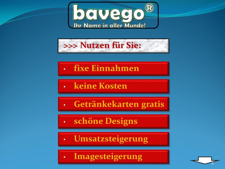 bavego® Ihr Name in aller Munde! >>> Nutzen für Sie: