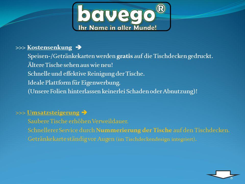 bavego® Ihr Name in aller Munde! >>> Kostensenkung 