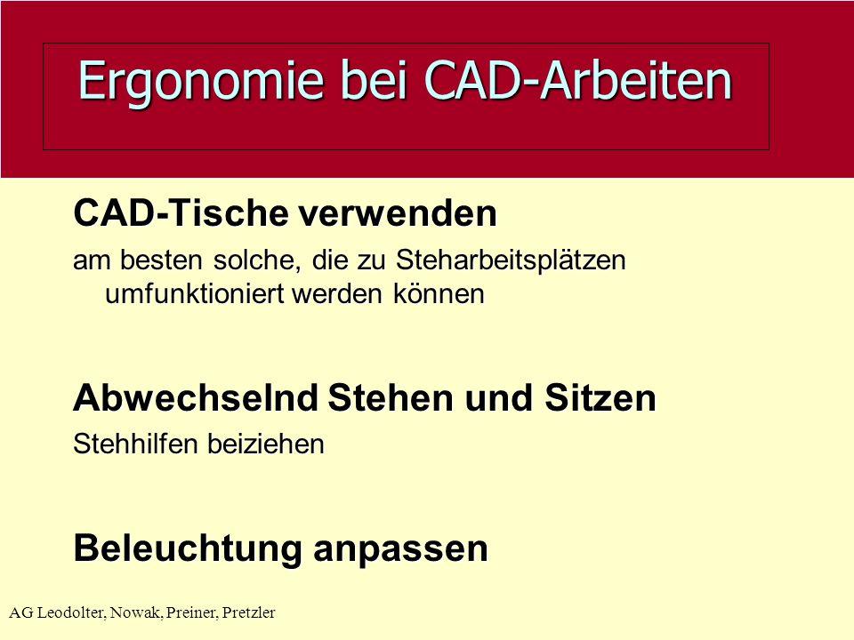 Ergonomie bei CAD-Arbeiten