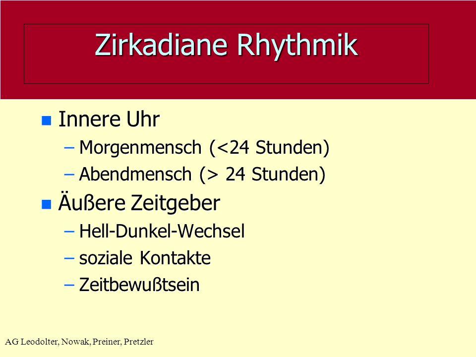 Zirkadiane Rhythmik Innere Uhr Äußere Zeitgeber