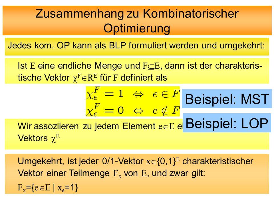Zusammenhang zu Kombinatorischer Optimierung