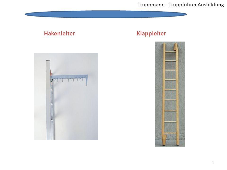 Hakenleiter Klappleiter Truppmann - Truppführer Ausbildung
