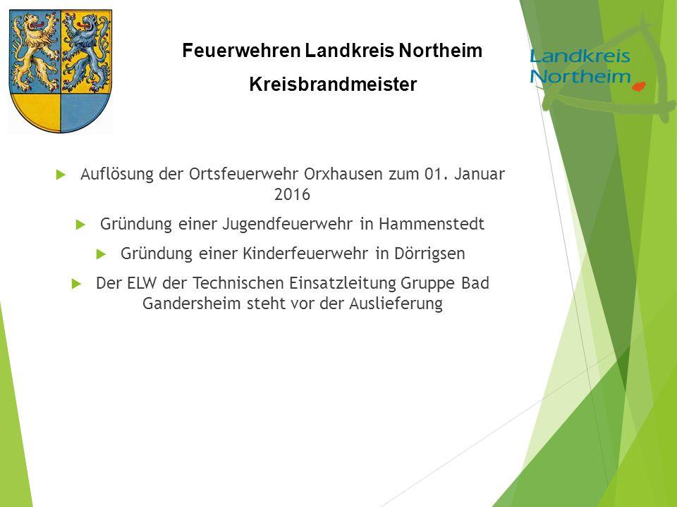 Auflösung der Ortsfeuerwehr Orxhausen zum 01. Januar 2016