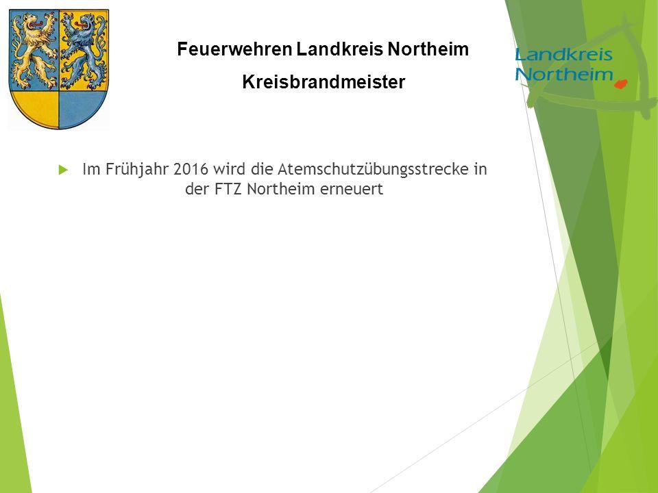 Im Frühjahr 2016 wird die Atemschutzübungsstrecke in der FTZ Northeim erneuert