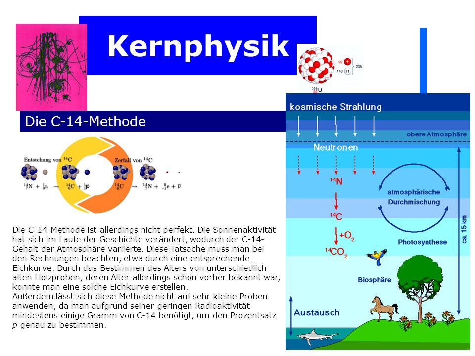 Kernphysik Die C-14-Methode