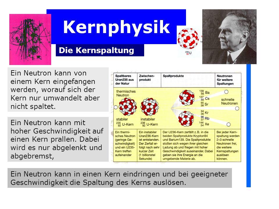Kernphysik Die Kernspaltung