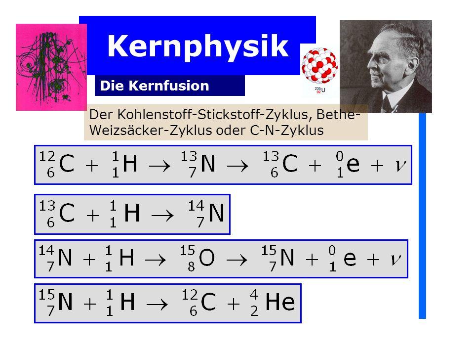 Kernphysik Die Kernfusion