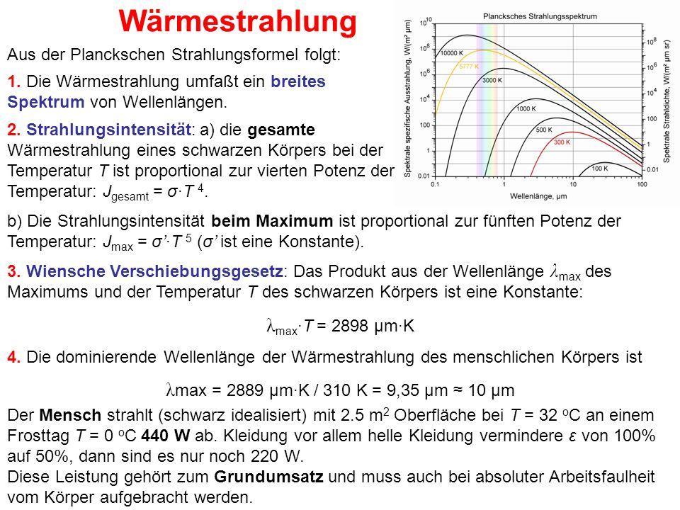 Wärmestrahlung λmax·T = 2898 μm·K