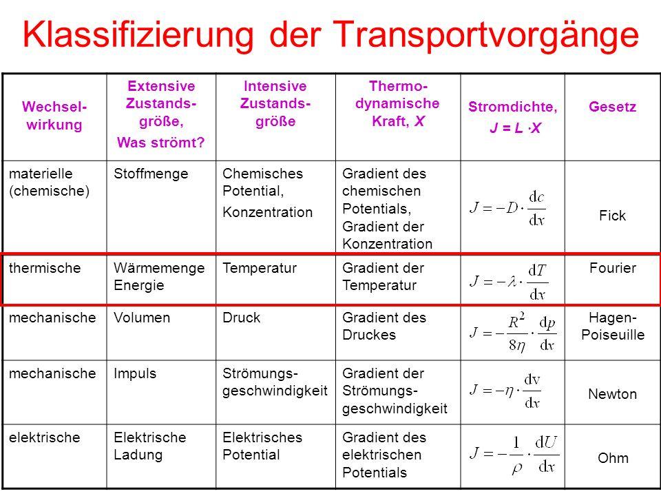 Klassifizierung der Transportvorgänge
