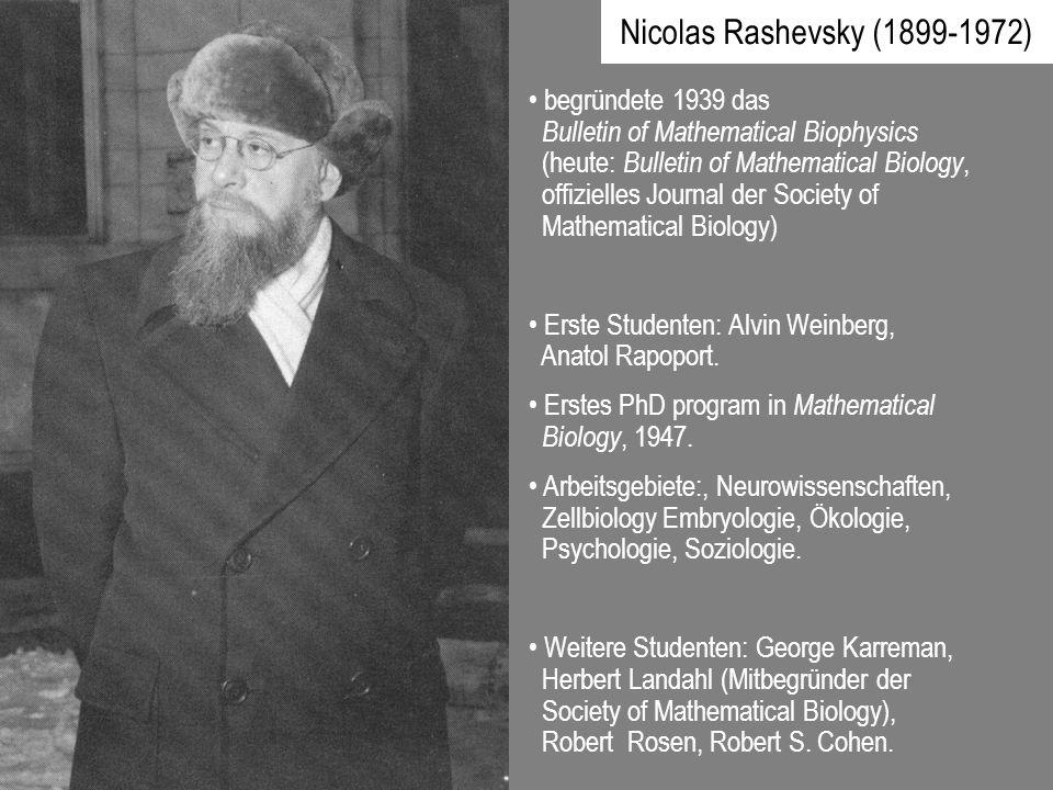 Nicolas Rashevsky (1899-1972)