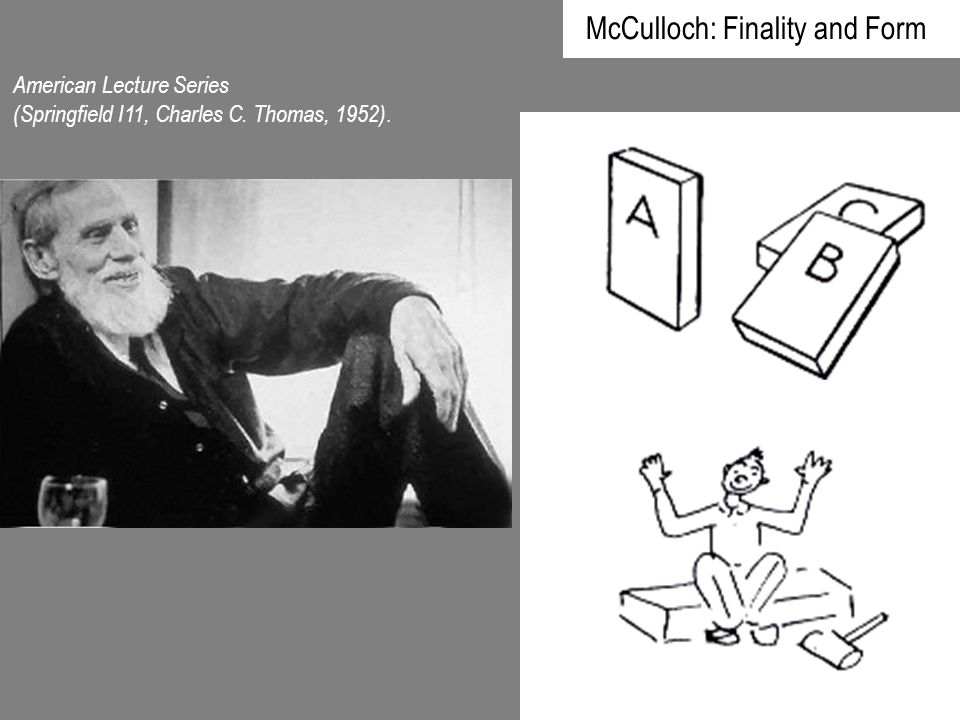 McCulloch: Finality and Form