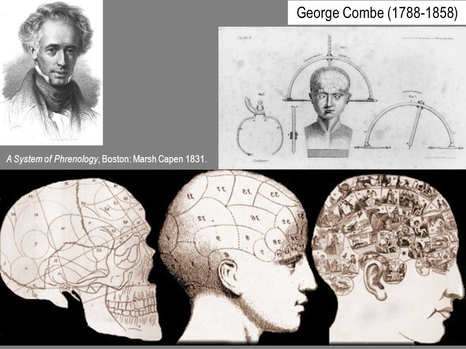 George Combe ( ) A System of Phrenology, Boston: Marsh Capen 1831.