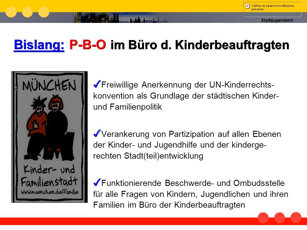 Bislang: P-B-O im Büro d. Kinderbeauftragten