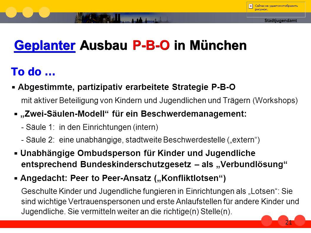 Geplanter Ausbau P-B-O in München