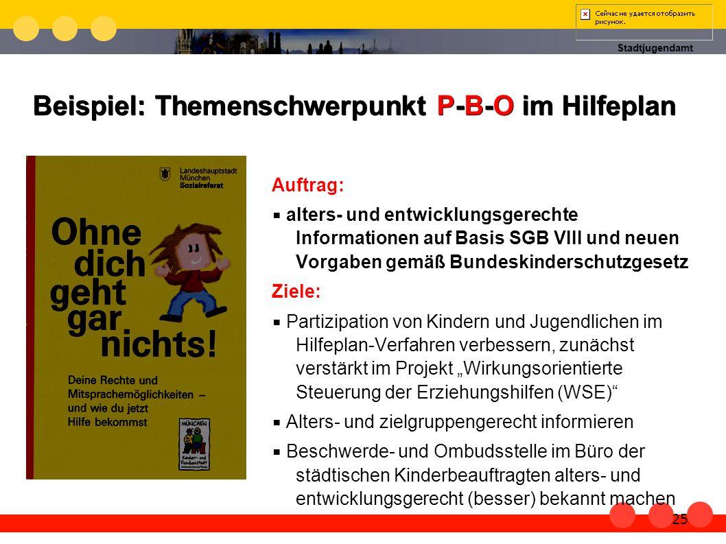 Beispiel: Themenschwerpunkt P-B-O im Hilfeplan