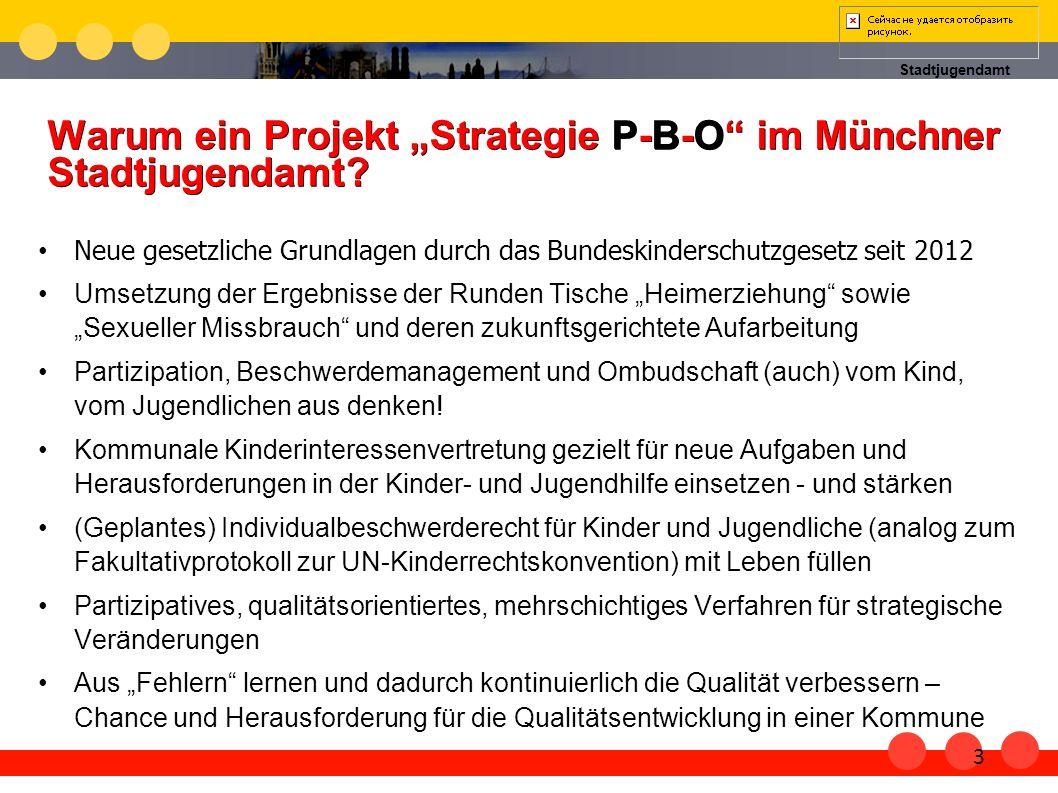 """Warum ein Projekt """"Strategie P-B-O im Münchner Stadtjugendamt"""