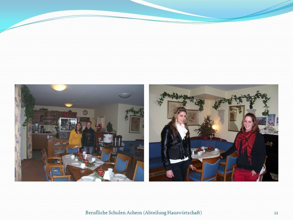 Berufliche Schulen Achern (Abteilung Hauswirtschaft)