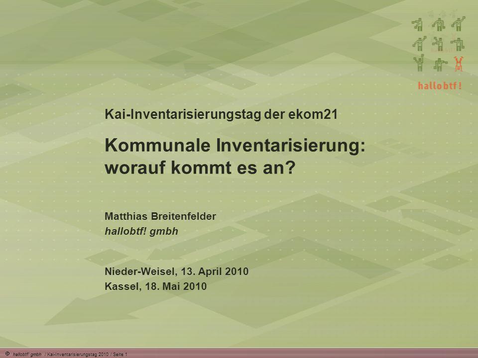 Kommunale Inventarisierung: worauf kommt es an