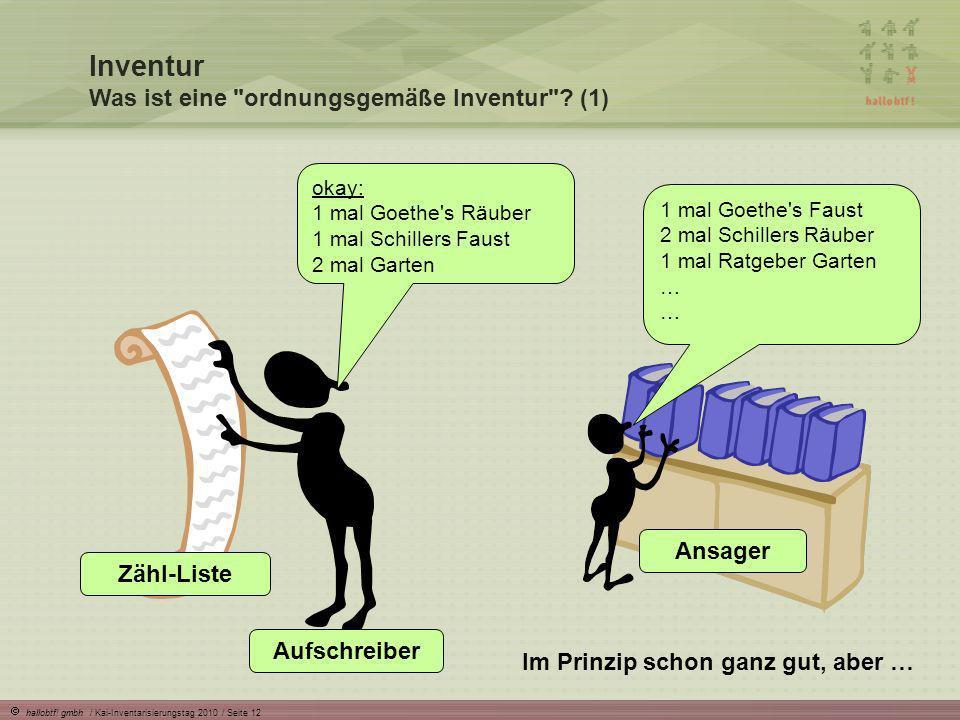 Inventur Was ist eine ordnungsgemäße Inventur (1)
