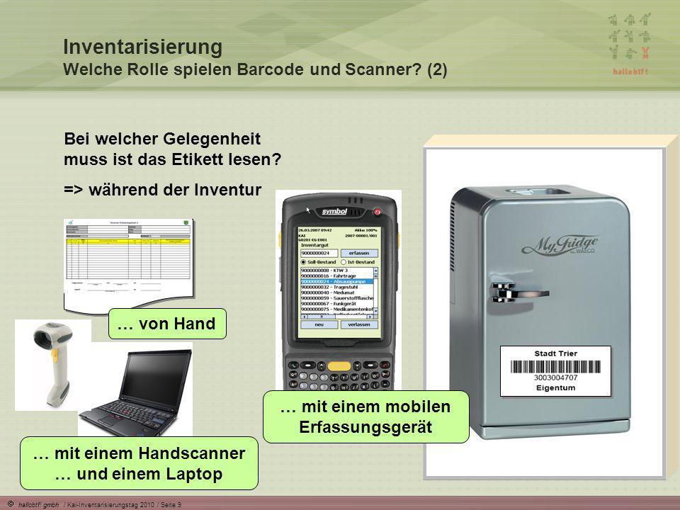 … mit einem mobilen Erfassungsgerät … mit einem Handscanner