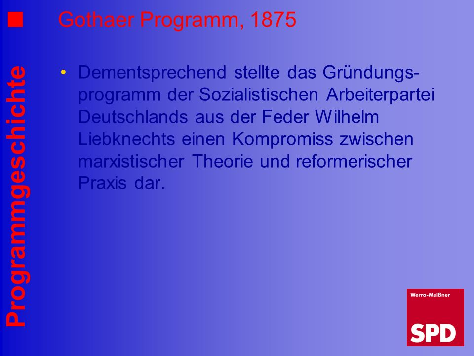 Gothaer Programm, 1875