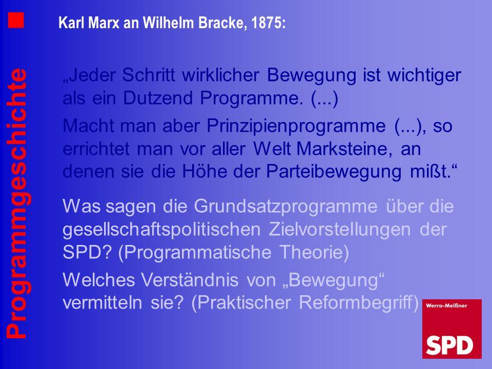 Karl Marx an Wilhelm Bracke, 1875: