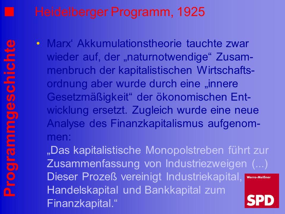 Heidelberger Programm, 1925