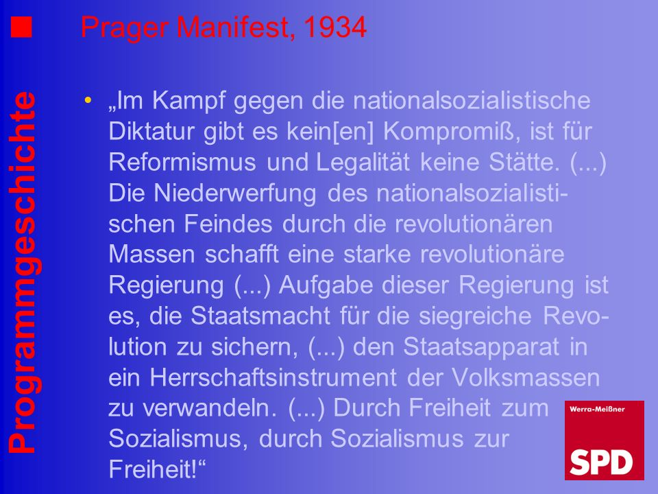 Prager Manifest, 1934