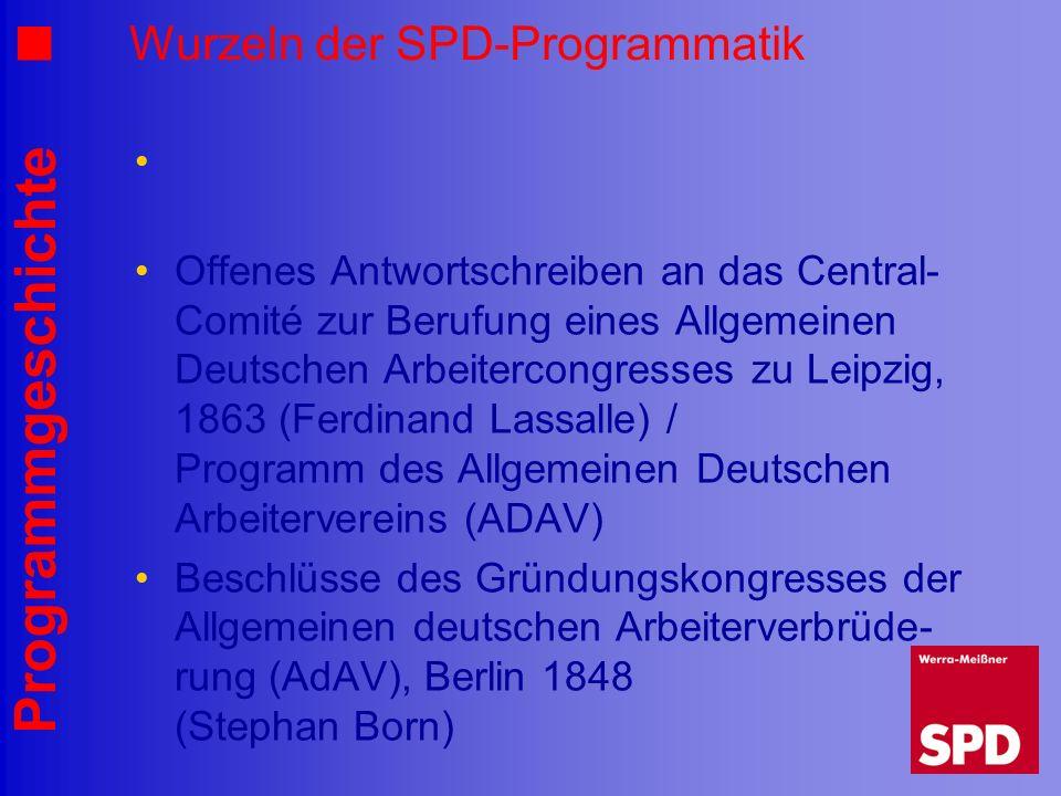 Wurzeln der SPD-Programmatik