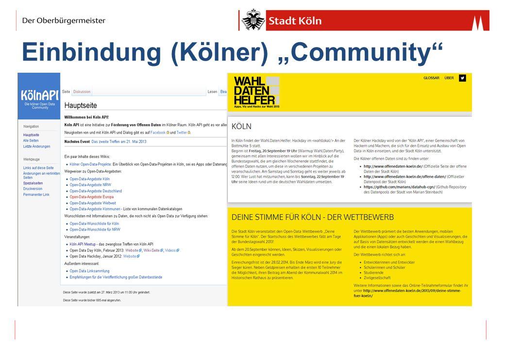 """Einbindung (Kölner) """"Community"""
