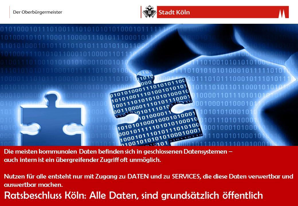 Ratsbeschluss Köln: Alle Daten, sind grundsätzlich öffentlich