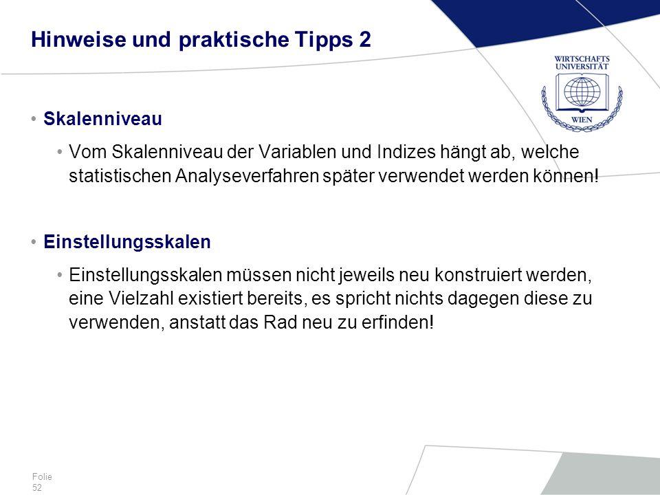 Hinweise und praktische Tipps 2