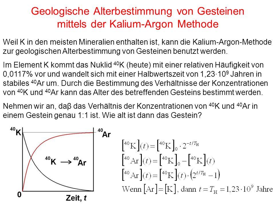 Geologische Alterbestimmung von Gesteinen mittels der Kalium-Argon Methode