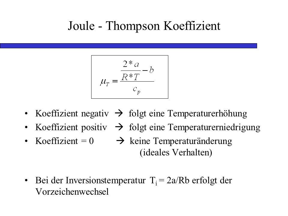 Joule - Thompson Koeffizient
