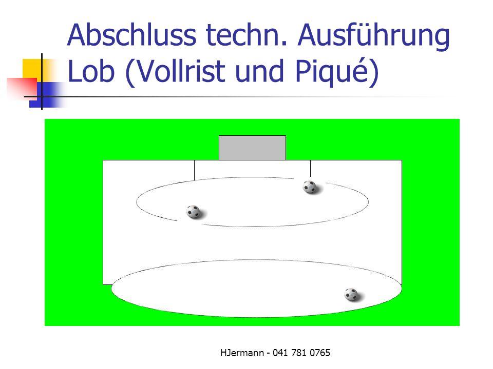 Abschluss techn. Ausführung Lob (Vollrist und Piqué)
